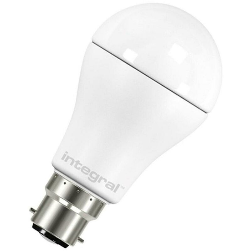 Image of (1 Pack) GLS 13.5W BC-B22d (100W Equivalent) 2700K Warm White Frosted 1521lm BC Bayonet B22 A60 Light Bulb - Integral Led