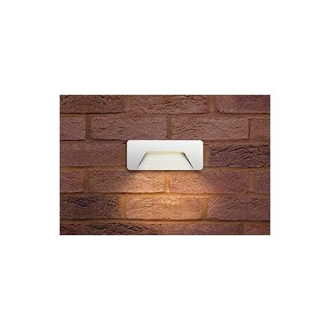Integral Pathlux - Outdoor LED Brick Wall Light 3W 3000K 160lm IP65 - White