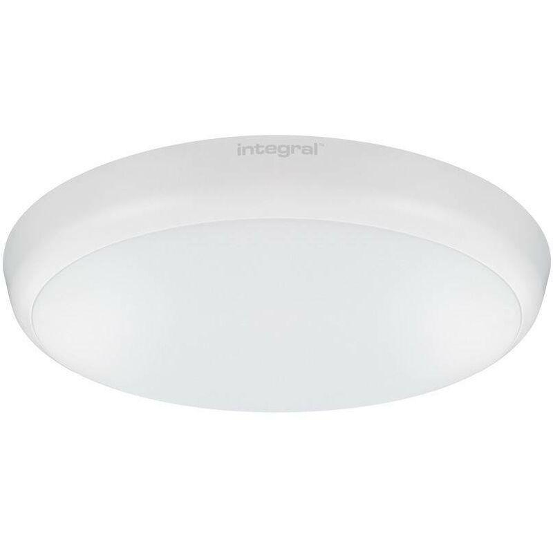 Integral Lighting - Integral - LED Flush Ceiling / Wall Light 12W 4000K 1056lm IK10 Matt White IP54