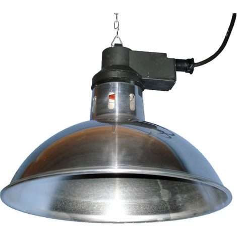 Intelec Traditional Infra-Red Lamp (8in) (Silver)