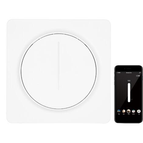 Inteligente WiFi interruptor de la luz Compatible con Alexa pagina principal de Google con interruptor de control remoto de un solo polo neutro cable que se requiere Tuya norma europea Sin Escala Dimmer con escena y modo de intervalo