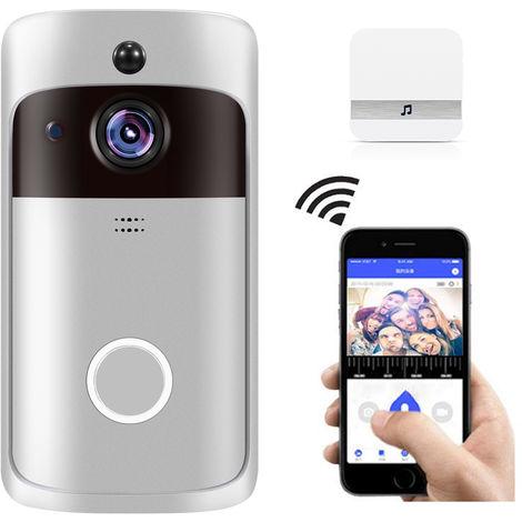 Inteligente WiFi timbre de la puerta, la camara HD 720P de Seguridad, con White Chime