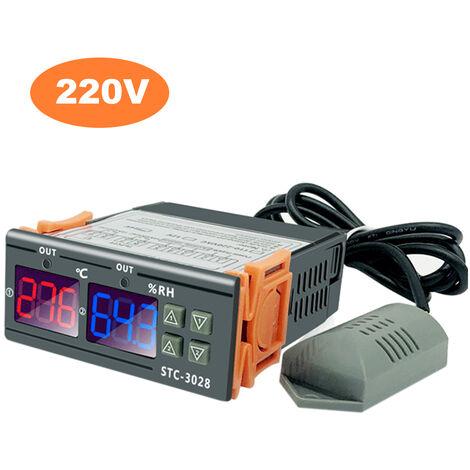 Intelligent Digital Display Temperature and Humidity Controller Greenhouse breeding temperature and humidity meter Humidity meter Hatching temperature control, 220V
