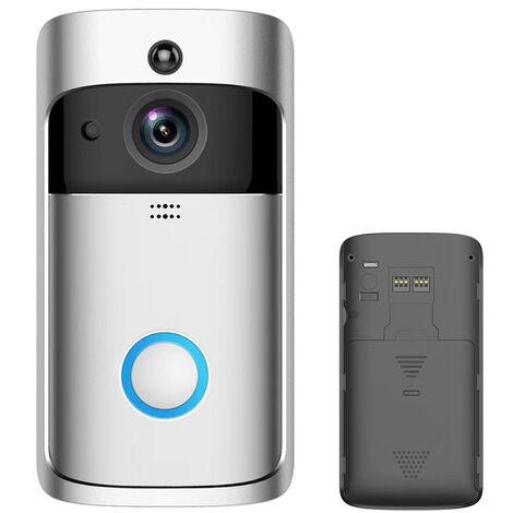 Intelligent Sans Fil Sonnette 720P Camera Wifi Visuel Video Telephone Sonnette 2 Voies Audio Video Sonnette Support Infrarouge Night View Pir Motion Sensor App Telecommande