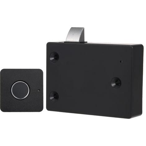 Intelligente Keyless Fingerabdruck Kabinett-Verschluss Biometrische Elektroschloss tragbare Mini-Fingerabdruck-Fach-Verschluss fur Office Drawer File Cabinet Schwarz