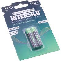 INTENSILO 2x Ni-MH 1000mAh (1.2V) wiederaufladbare Akkus Batterien für Telekom Sinus 206, 207, 406, 502, 502i, 503, 503i, 605, 606