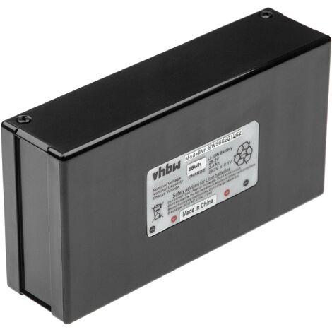 INTENSILO batería compatible con Ambrogio L30 Elite, L35 Deluxe, L50, L60 Deluxe, L75 cortacésped robot cortacésped (3400mAh, 25,2V, Li-Ion)