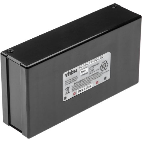 INTENSILO batterie compatible avec Alpina AR1 500 tondeuse à gazon robot tondeuse (3400mAh, 25,2V, Li-Ion)