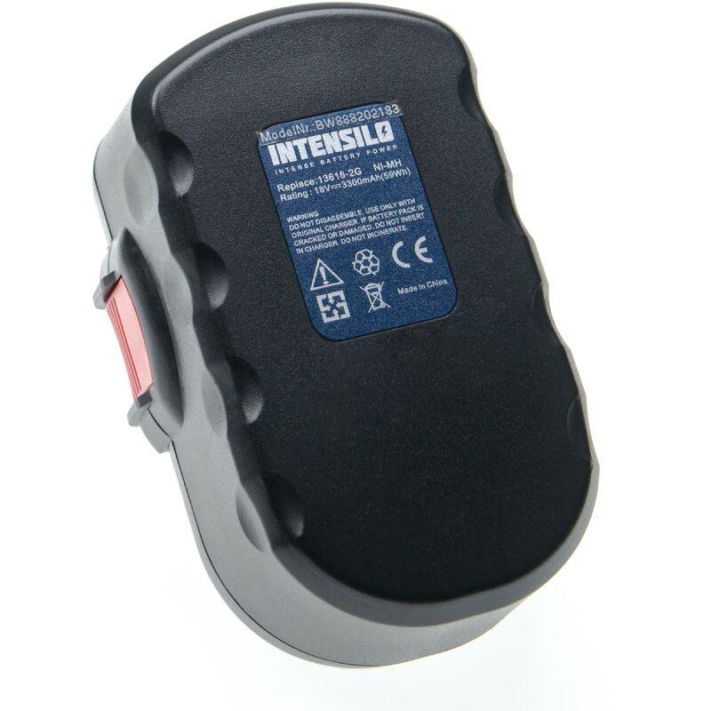 Batterie compatible avec Bosch GHO 18 V, GKS 18 V, GLI 18 V, GSA 18 VE, GSB 18 VE-2, GSR 18 V outil électrique (3300mAh NiMH 18V) - Intensilo