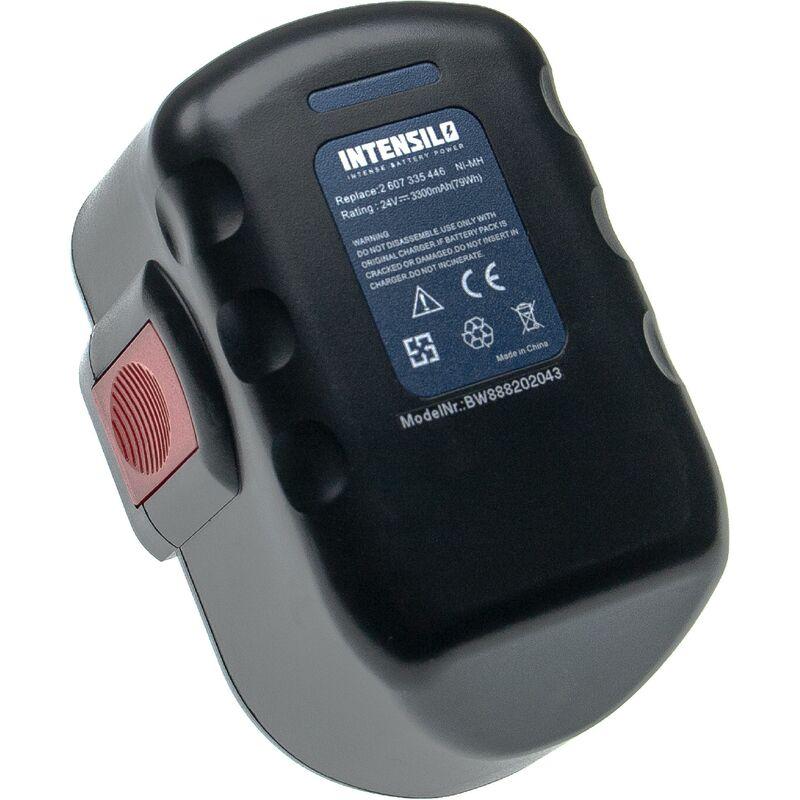 Batterie compatible avec Bosch GLI 24V, GMC 24V, GSA 24V, GSA 24VE, GSB 24VE-2, GSR 24VE-2, GST 24V outil électrique (3300mAh NiMH 24V) - Intensilo