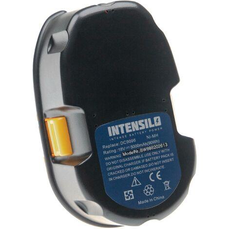 INTENSILO Batterie compatible avec Dewalt DC628K, DC668KA, DC720KA, DC721KA, DC721KB, DC725KA, DC725KB outil électrique (5000mAh NiMH 18 V)