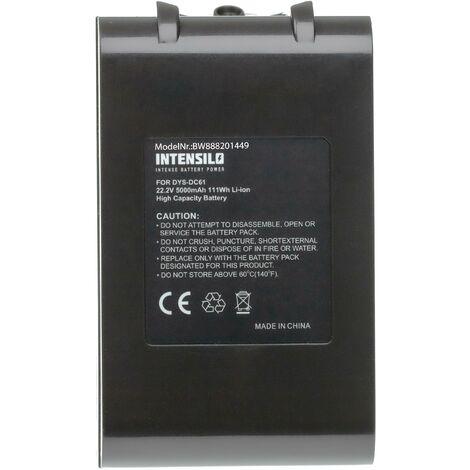 INTENSILO Batterie compatible avec Dyson DC59 Motorhead, DC61, DC62, DC62 Animal robot électroménager (5000mAh, 22,2V, Li-ion)