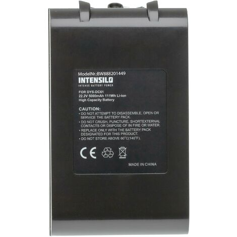 INTENSILO Batterie compatible avec Dyson DC72, DC74 Animal, SV03, SV05, SV06, SV07 robot électroménager (5000mAh, 22,2V, Li-ion)
