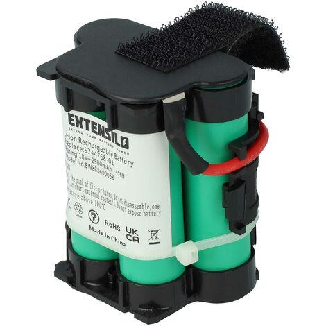INTENSILO batterie compatible avec Gardena R40 Li, R45 Li, R70 Li replacement pour 574 47 68-01 robot tondeuse (2500mAh, 18V, Li-ion)