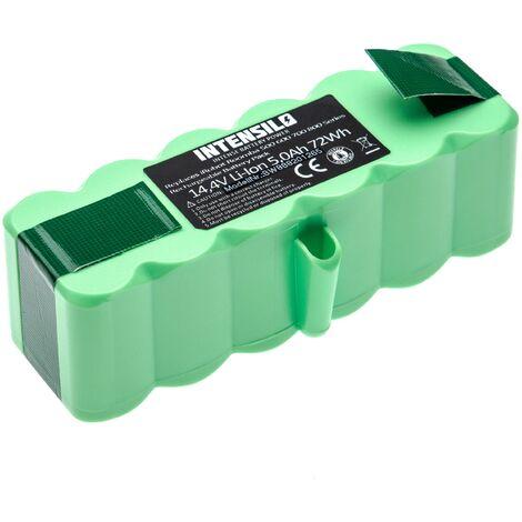 INTENSILO batterie compatible avec iRobot Roomba 801, 805, 850, 860, 877, 890, 891, 895 aspirateur Home Cleaner (5000mAh, 14.4V, Li-Ion)