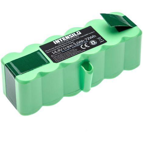 INTENSILO batterie compatible avec iRobot Roomba 896, 960, 965, 980, 985 aspirateur Home Cleaner (5000mAh, 14.4V, Li-Ion)