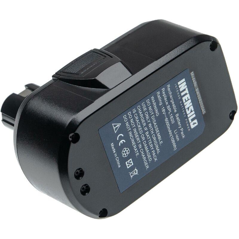 INTENSILO Batterie compatible avec Ryobi LDD1802PB, LDD-1802PB, LFP-1802S, LRS-180, OBL-1801 outil électrique (6000mAh Li-ion 18 V)