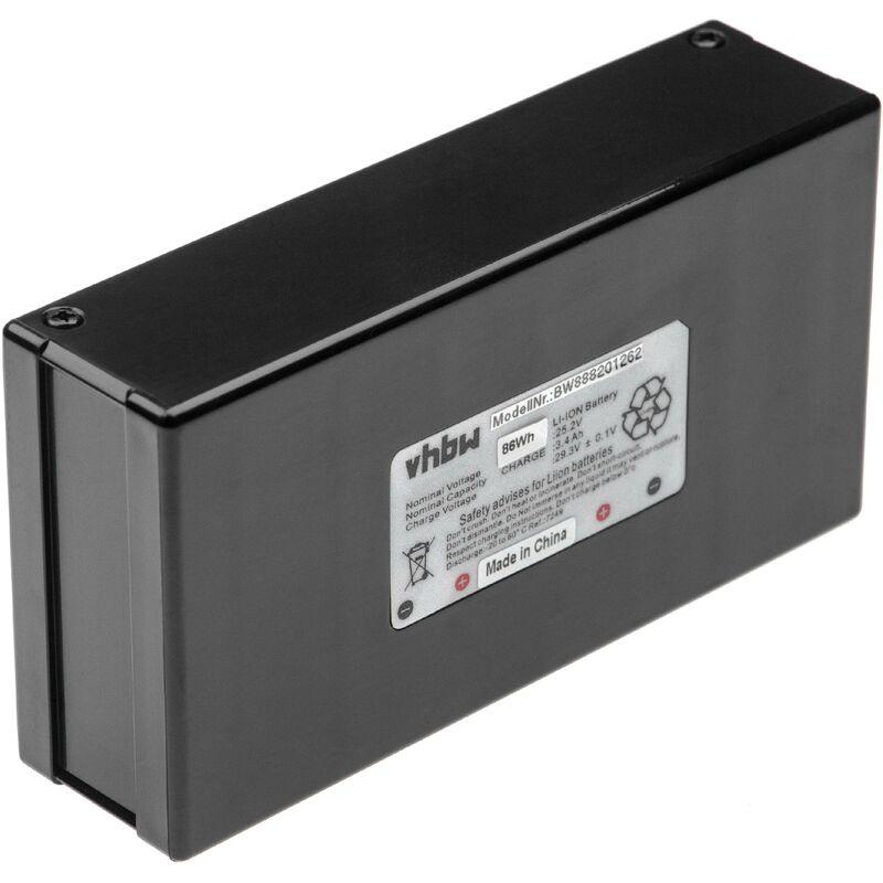 INTENSILO batterie remplace Zucchetti 075Z01300A pour tondeuse à gazon robot tondeuse (3400mAh, 25,2V, Li-Ion)