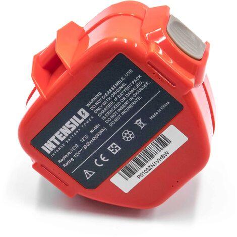 """main image of """"INTENSILO Batterie remplacement pour Makita 1220, 1222, 1233, 1234, 1235, 1235F, 1250, 192536-4, 192597-4 pour outil électrique (3300mAh NiMH 12V)"""""""