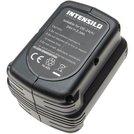 INTENSILO Battery compatible with Dewalt DW004, DW004K, DW004K-2, DW004K2C, DW004K2H, DW005 Electric Power Tools (3300mAh NiMH 24V)