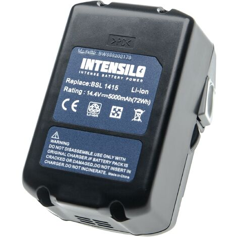 INTENSILO Battery compatible with Hitachi / HiKOKI CR 14DSL, DH 14DSL, DS 14DBL, DV 14DBL, DV 14DSL Electric Power Tools (5000mAh Li-Ion 14.4V)
