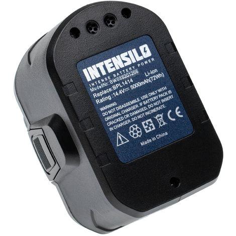 INTENSILO battery compatible with Ryobi CDD144V22, CDDI14022NF, LCD1402, LCD14022, LCDI14022 electric power tools (5000mAh, 14.4V, Li-Ion)