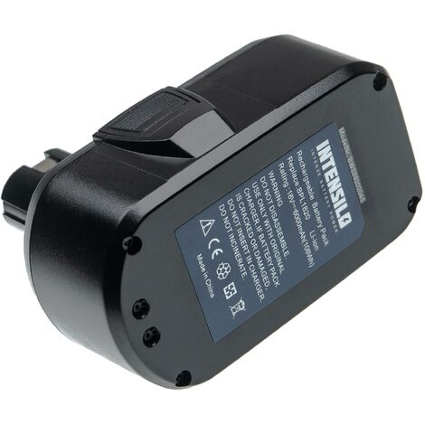 INTENSILO Battery compatible with Ryobi CNS-180L, CP-180M, CPD-1800, CPL-180M, CRA-180M Electric Power Tools (6000mAh Li-Ion 18V)