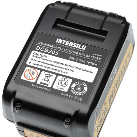 INTENSILO Battery Replacement for Dewalt DCB182, DCB183, DCB184 for Electric Power Tools (5000mAh Li-Ion 20V)
