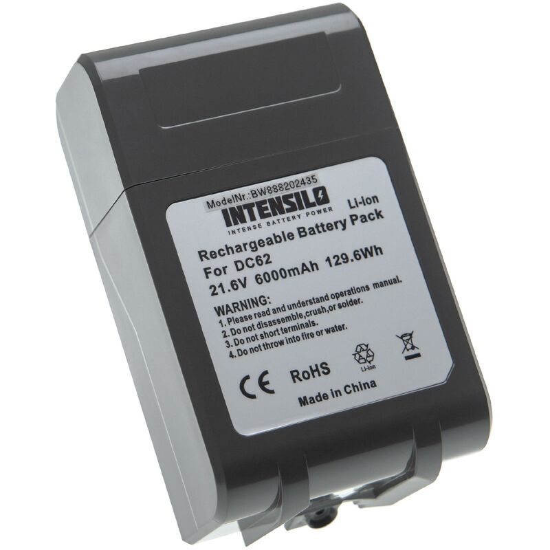 Image of INTENSILO Battery Replacement for Dyson 205794-01/04, 965874-02 for Vacuum Cleaner Home Cleaner (6000mAh, 21.6V, Li-Ion)