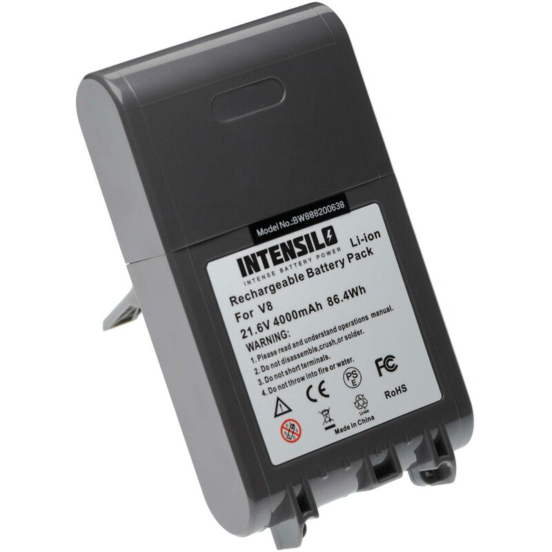 Image of INTENSILO Battery Replacement for Dyson 215681, 215866-01/02, 215967-01/02 for Vacuum Cleaner Home Cleaner (4000mAh, 21.6V, Li-Ion)