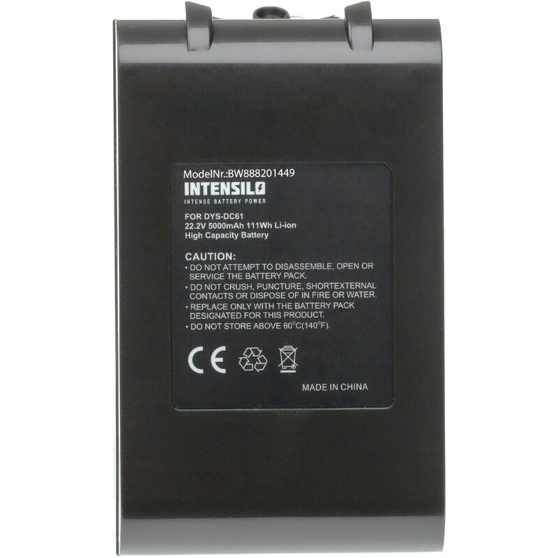 Image of INTENSILO Battery Replacement for Dyson 62350-07/02, 965874-02, 967810-02 for Vacuum Cleaner Home Cleaner (5000mAh, 22.2V, Li-Ion)