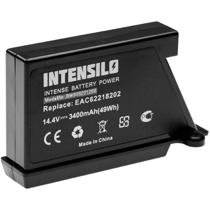 Image of INTENSILO Battery Replacement for LG EAC60766107, EAC60766108, EAC60766109 for Vacuum Cleaner Home Cleaner (3400mAh, 14.4V, Li-Ion)