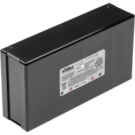 INTENSILO battery replaces Zucchetti 075Z01300A for robotic lawnmower (3400mAh, 25.2V, Li-Ion)