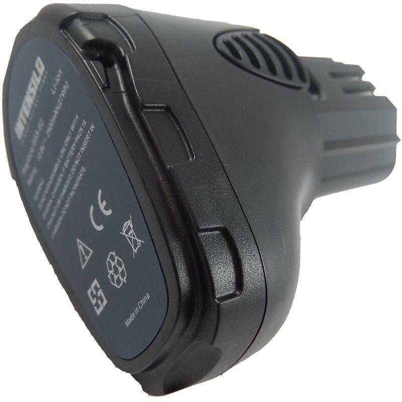 INTENSILO Li-Ion Batterie 2500mAh (10.8V) pour outils Dremel 8000-01, 8001-01 comme 757-01, 855-02, 855-45.