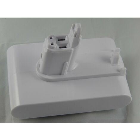 INTENSILO Li-Ion Batterie 2500mAh (22.2V) blanc pour aspirateurs Dyson DC31 Animal, DC34, DC34 Animal, DC35, DC35 Multi Floor comme 202932-02.