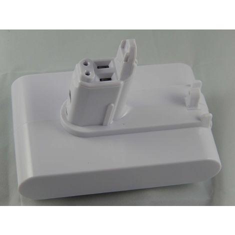 INTENSILO Li-Ion Batterie 2500mAh (22.2V) blanc pour aspirateurs Dyson DC56, DC57 comme 202932-02.