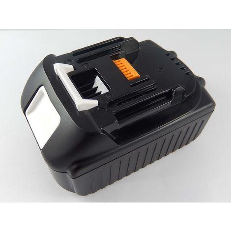 INTENSILO Li-Ion Batterie 2500mAh pour outils électriques Makita BVF154RF, BVR350, BVR350F, BVR350Z, BVR450, BVR450F comme BL1815, 194204-5.