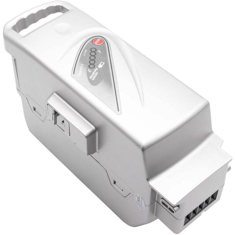 INTENSILO Li-Ion batterie pour Panasonic Flyer C10, C10 HS, C11 HS, C12 HS, C2, C2 Premium, C4 ebike vélo électrique (23200mAh, 26V, Li-Ion, argent)