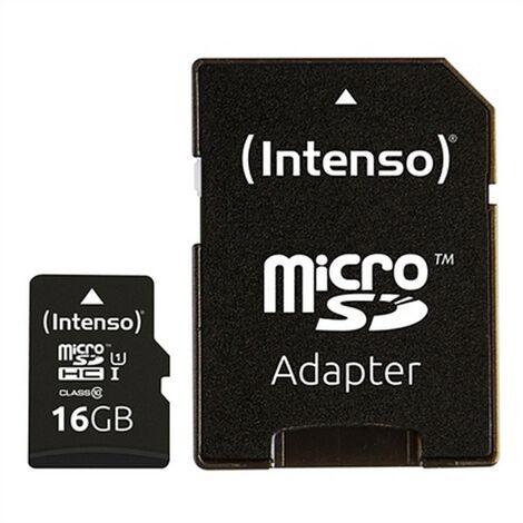 "main image of ""INTENSO Tarjeta de Memoria Micro SD con Adaptador INTENSO 34234 UHS-I Premium Negro 16 GB"""