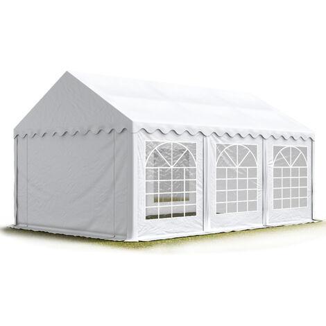 INTENT24 3x6 m Tente de réception/Barnum blanc toile de haute qualité env. 500g/m² PVC ECONOMY