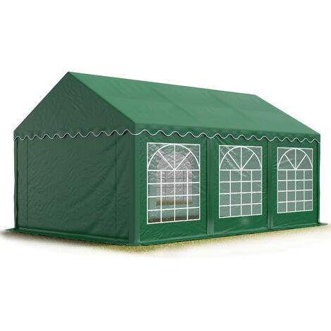 INTENT24 3x6 m Tente de réception/Barnum vert foncé toile de haute qualité env. 500g/m² PVC ECONOMY