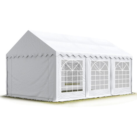 INTENT24 3x6m tente de réception, PVC env. 500g/m² anti-feu, H. 2m, blanc