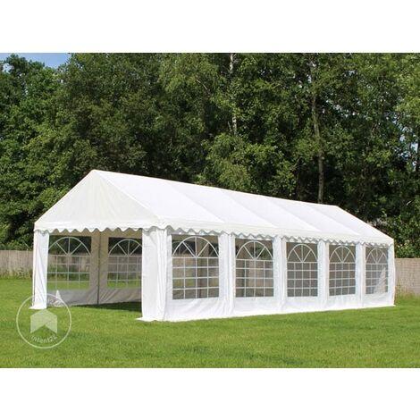 INTENT24 4x8 m Tente de réception/Barnum vert foncé toile de haute qualité env. 500g/m² PVC ECONOMY