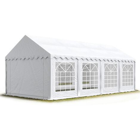 INTENT24 Tente de réception/Barnum 4x8 m - ignifugee blanc toile de haute qualité env. 500g/m² PVC ECONOMY