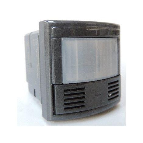 Inter à extinction auto détection IR passifs + ultrasons + capteur de luminosité anthracite 2 modules AXOLUTE BTICINO HS4433