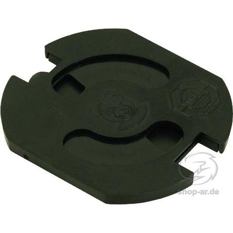 Inter Bär TEDDY-Automatic schwarz 5 Stück Steckdosenschutz klebbar