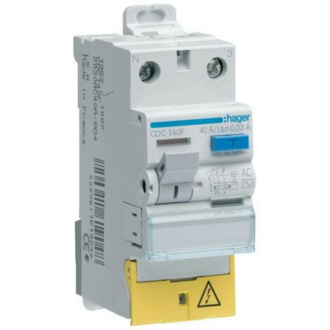 Inter dif 1P+N 40A 30mA AC BD (HAG CDC140F)