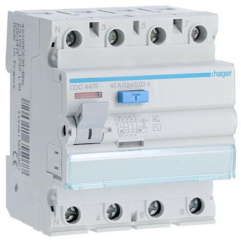 Inter dif 4P 40A 30mA AC 60Hz (HAG CDC447F)