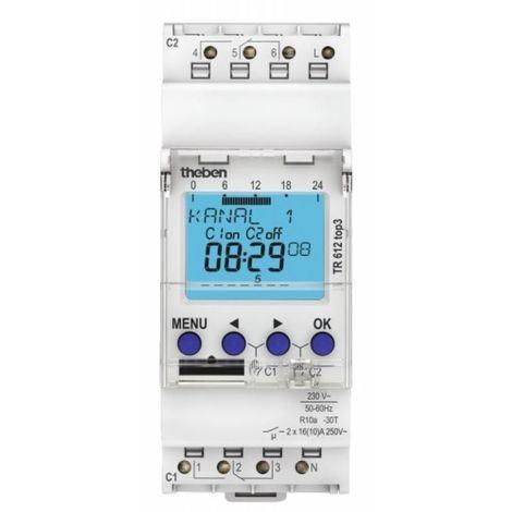 inter horaire digital 24h 7j 2module 1c 230v compatible OBELISK top3 Bluetooth THEBEN 6100130