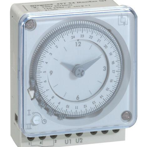 Inter horaire programmable analogique 72x72mm à programme journalier connexion à vis (049754)